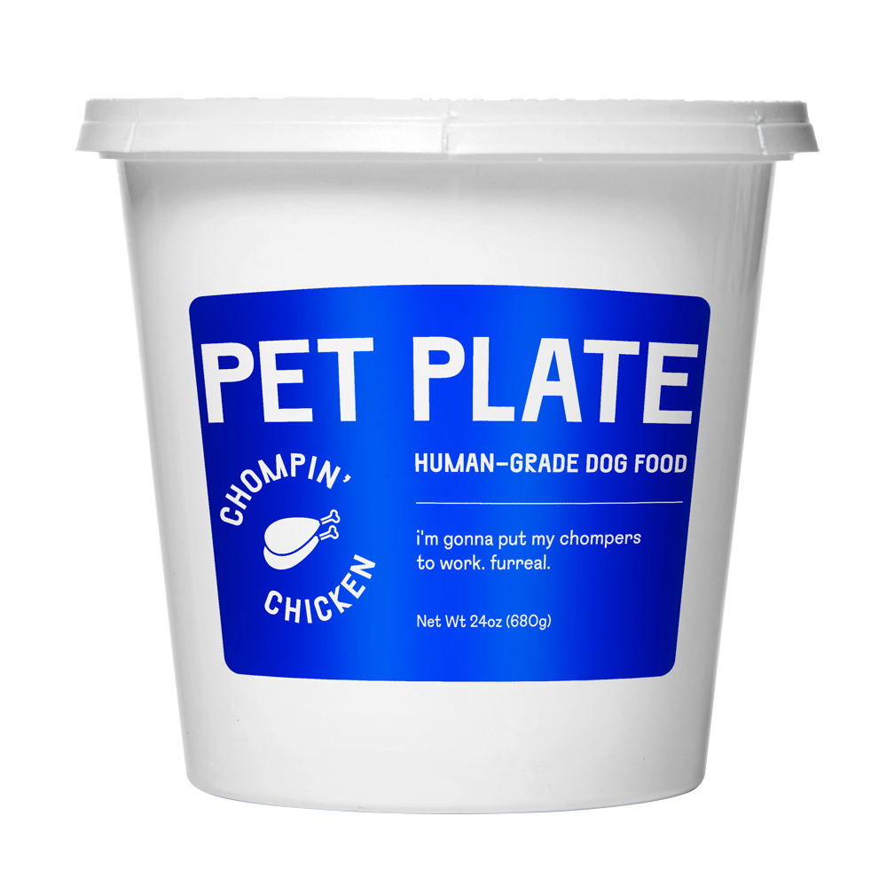 A Pet Plate container